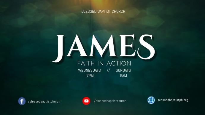 JAMES sermon series Digitale display (16:9) template