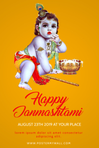 Janmashtami Event Flyer Design Template