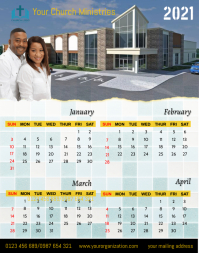 January-April, 2021 Poster/Wallboard template