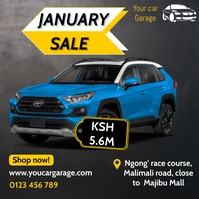 January car sale Pos Instagram template