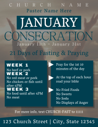 January Consecration Flyer (US Letter) template