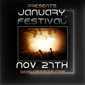 JANUARY fest festival ad video digital Logo template
