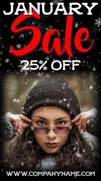 January Sale Digital Template Digitale Vertoning (9:16)