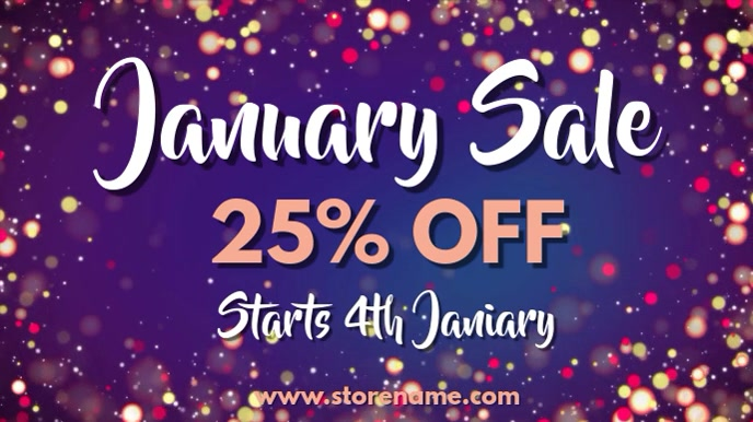 January Sale Digital Template