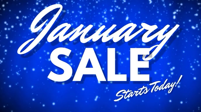 January Sale Digital Template Digitalt display (16:9)