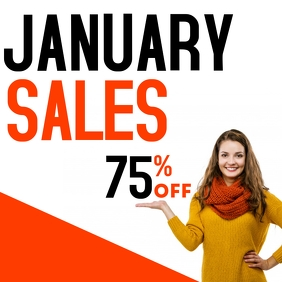 January sales 75 % off advertisement on insta