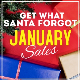 January sales advertisement instagram post Logótipo template