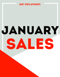 January Sales flyer advertisement
