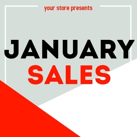 January Sales instagram post advertisement template