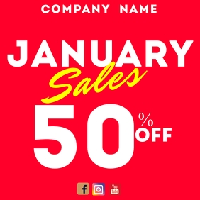 January sales instagram post