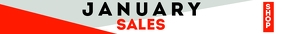 January Sales leaderboard advertisement Classifica template