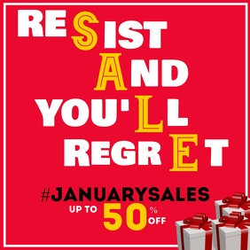 January sales retail instagram post advertise