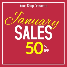 January sales up to 50% off simple instagram