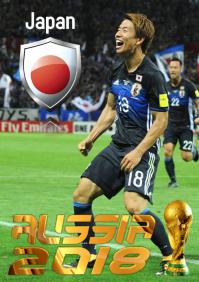 Japan Football Team Poster