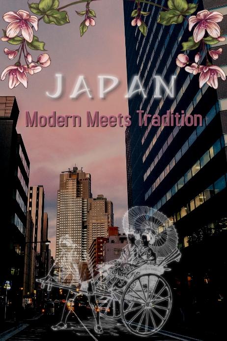Japan/Tokio/Tradition/Turism/Poster Bannière 4' × 6' template