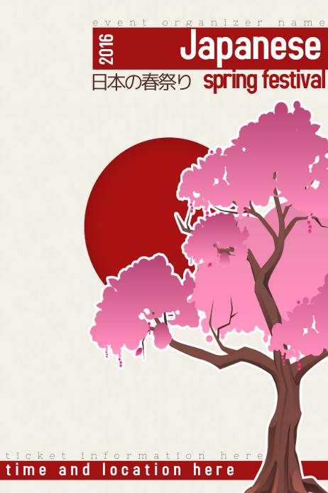 Japanese Sakura Tree Spring Festival Template Postermywall