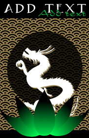 japanese pattern like wood carving and cool white chinese dragon