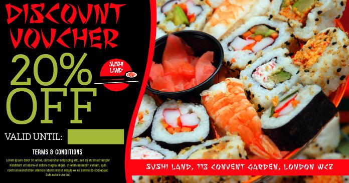 Japanese Sushi Restaurant Facebook Ad Template