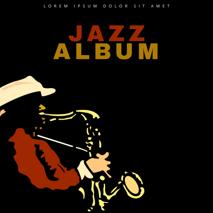 Jazz Album Cover Template