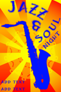 jazz and soul night - with saxophone