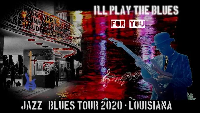 jazz/blues/concert/tour/festival/music YouTube-thumbnail template