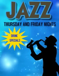 JAZZ CLUB JAZZ BAR Flyer (US Letter) template