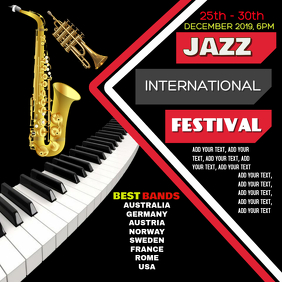Jazz concert band flyer Wpis na Instagrama template
