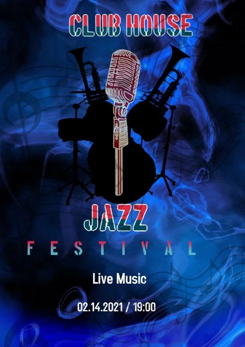 Jazz Concert A4 template