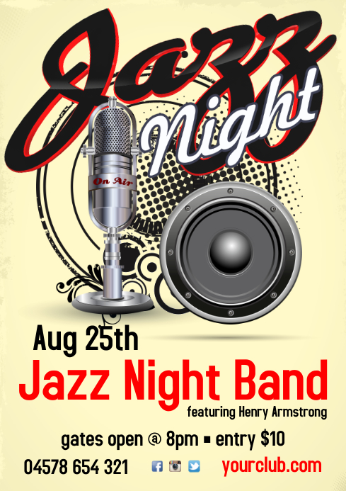 Jazz Concert Flyer A3 template