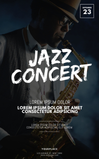 Jazz Concert Flyer Design Template