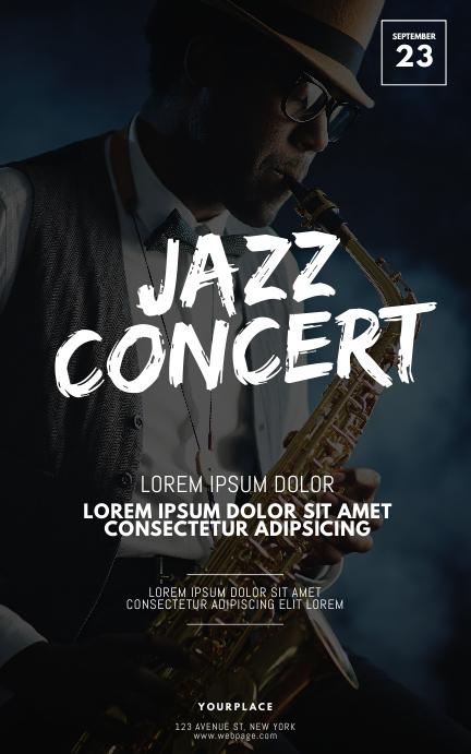 Jazz Concert Flyer Design Template Kindle 封面