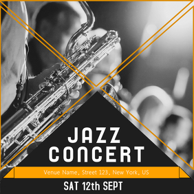 Jazz concert Music template Instagram Post