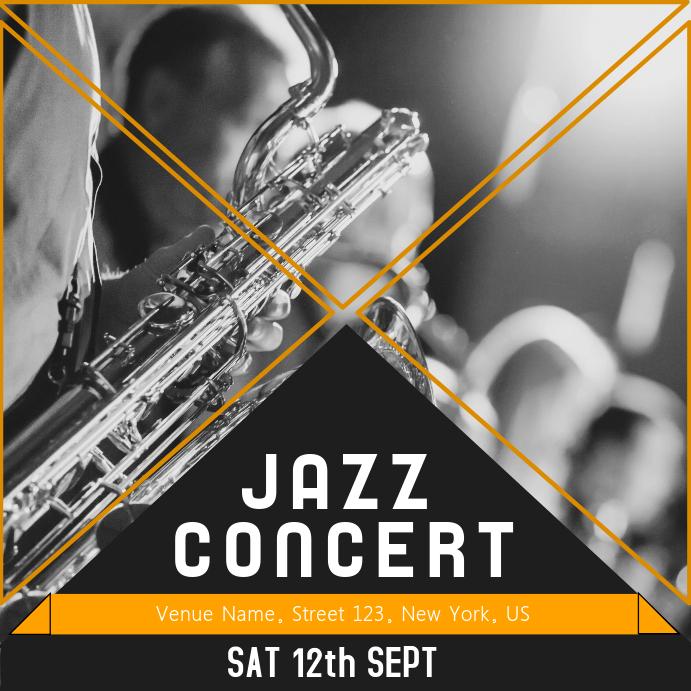 Jazz concert Music template