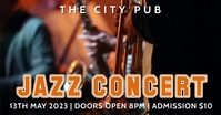 Jazz Concert Night Bar Pub Event Video Ad Facebook Shared Image template
