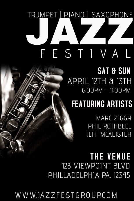 Jazz Concert Template Postermywall