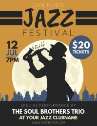 Jazz Flyer (US Letter) template