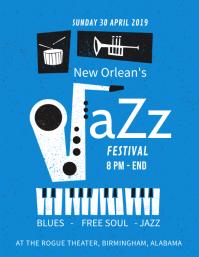 Jazz Electro Concert Flyer