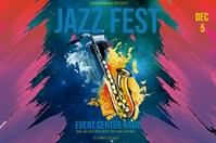 Jazz Fest Этикетка template