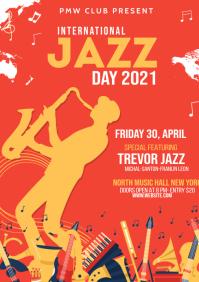 Jazz Festival Flyer A4 template