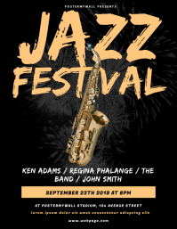 Jazz Festival Flyer Design Template