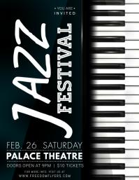 Jazz Festival Flyer template