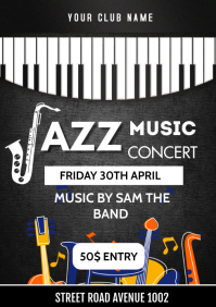 Jazz Festival Flyer A3 template