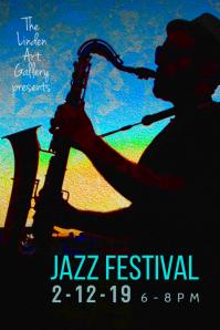 Jazz Festival flyer poster template