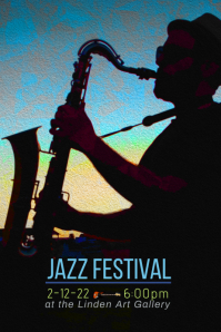 Jazz Festival flyer poster template