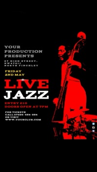 Customizable design templates for jazz night video invitation jazz festival instagram stopboris Image collections