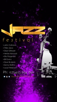 Jazz Festival Instagram Template Pantalla Digital (9:16)