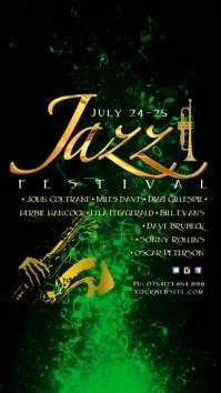 Jazz Festival Instagram Template Digitalt display (9:16)