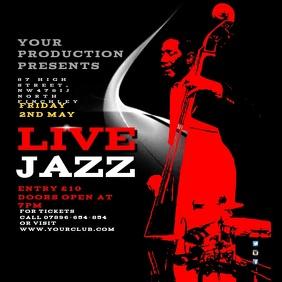 Jazz Festival Instagram video Square (1:1) template