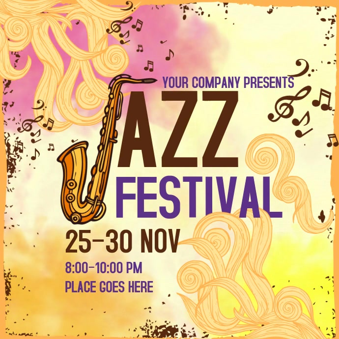 Jazz Festival Instagram Video Template