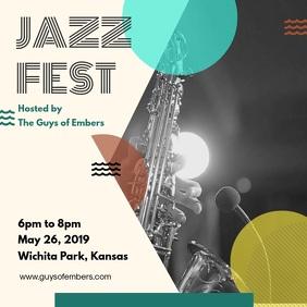 Jazz Festival Modern Ad for Social Media